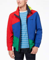 Tommy Hilfiger Men's Endeavour Pieced Colorblocked Hooded Regatta Jacket