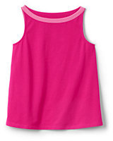 Lands' End Little Girls A-line Solid Knit Tank-Rich Sapphire