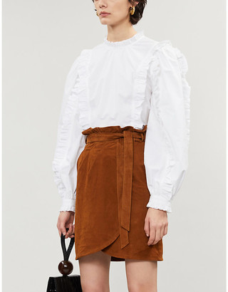 BA&SH Sun suede mini-skirt