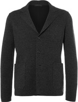 Prada Grey Unstructured Double-Faced Wool and Cashmere-Blend Blazer