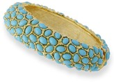 The Well Appointed House Kenneth Jay Lane Gold Turquoise Cabachon Thin Bracelet - IN STOCK IN OUR GREENWICH STORE FOR QUICK SHIPPING
