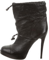 Tory Burch Leather Platform Ankle Boots