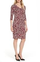 BOSS Women's Epona Print Crepe Sheath Dress