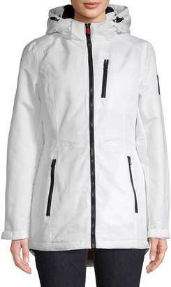 London Fog Hooded Rain Jacket