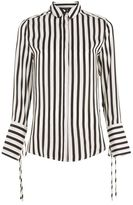 Topshop Silky stripe shirt