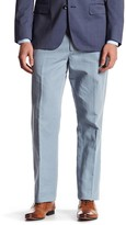 Bonobos Foundation Blue Woven Regular Fit Double-Pleated Trouser - 32-34 Inseam