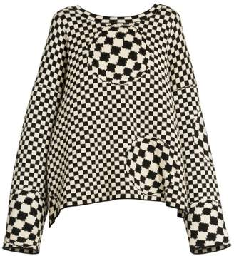 Off-White Off White Mixed Checker Knit Sweater