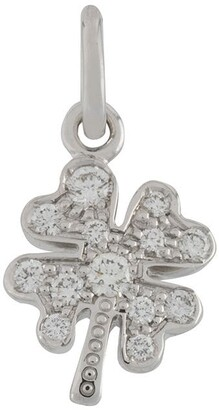 Dodo 18kt white gold One In a Million four-leaf clover diamond pendant