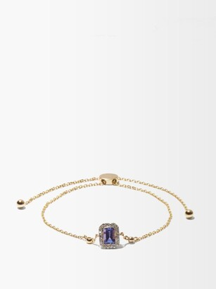 Anissa Kermiche December Diamond, Tanzanite & 14kt Gold Bracelet - Purple