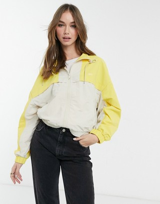 Levi's celeste windbreaker colourblock jacket in yellow