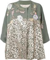 Antonio Marras lace panel jacket - women - Linen/Flax/Polyester/Lyocell - 42