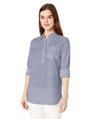 Daily Ritual Broken-in Cotton Relaxed Popover Shirt Button,(EU S - M)