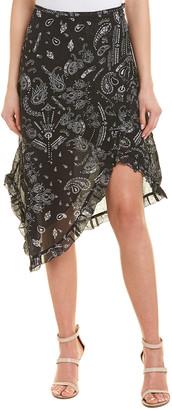 IRO Asymmetric Midi Skirt