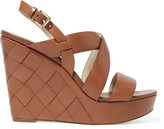 MICHAEL Michael Kors Bennet leather wedge sandals