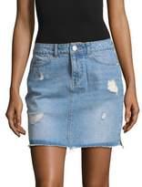Noisy May Lucy Distressed Denim Mini Skirt