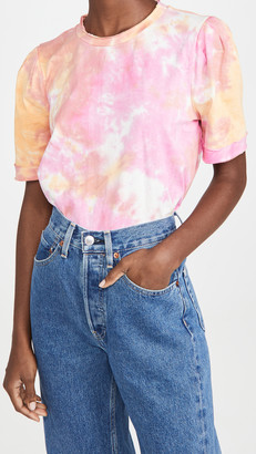 ENGLISH FACTORY Tie Dye Puff Sleeve Knit Top