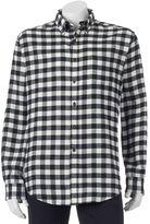 Croft & Barrow Men's Slim-Fit Plaid Flannel Button-Down Shirt