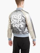 Comme des Garcons Metallic Satin Varsity Jacket