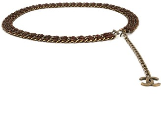 Chanel Pre Owned CC charm chain belt