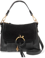 See by Chloe Joan Small Textured-leather And Suede Shoulder Bag - Black