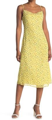 re:named apparel Marley Cowl Neck Cami Midi Dress
