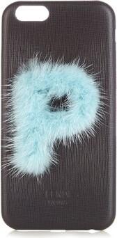 Fendi Leather Iphone 6 Case - Black Blue