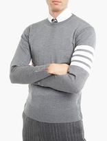 Thom Browne Grey Merino Sweater