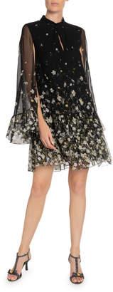Erdem Concetta Silk Cape Dress