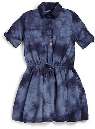DKNY Toddler's & Little Girl's Tie-Dyed Denim Dress