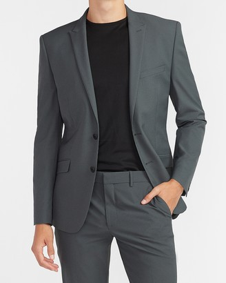 Express Extra Slim Gray Houndstooth Tech Suit Jacket