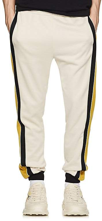 Gucci Men's Contrast-Striped Tech-Jersey Jogger Pants