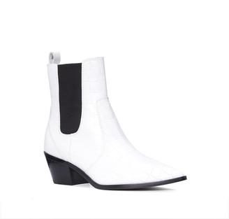 Paige Willa Croc Embossed Chelsea Boot