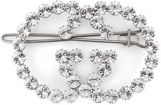 Gucci Crystal Interlocking G hair clip