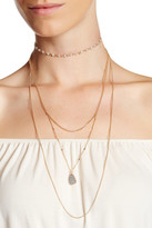 Stephan & Co Rosary Choker Layered Necklace