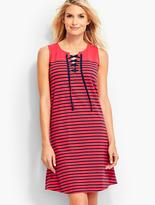 Talbots Breton Stripes Tie-Front Cover-Up