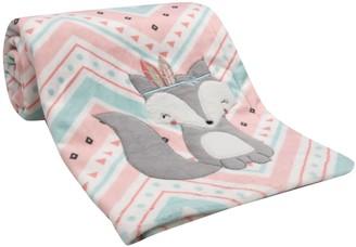 Lambs & Ivy Little Spirit Fox Chevron Blanket