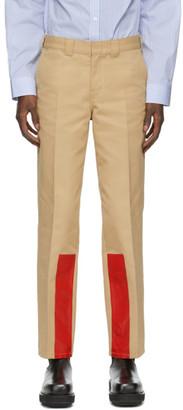 Helmut Lang Tan Uniform Trousers
