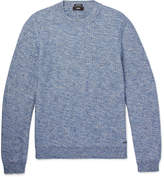 HUGO BOSS Textured-Knit Mélange Cotton Sweater