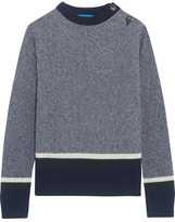 MiH Jeans Striped Wool-blend Sweater - Blue