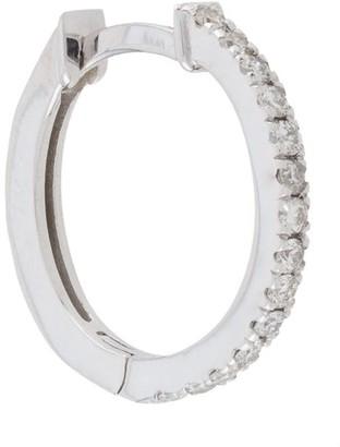 Botier 18kt white gold diamond huggie hoop