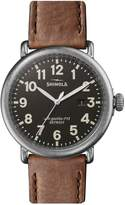 Shinola Runwell Stainless Steel Leather-Strap Watch