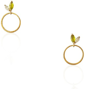 Daixa Somed Emma Earrings - Sterling Silver Gold Plated & Zirconias