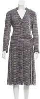 Tory Burch Long Sleeve Abstract Print Dress