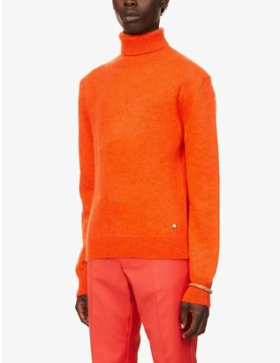 Paco Rabanne Turtleneck mohair-blend jumper