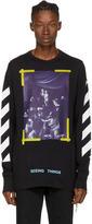 Off-White Black Long Sleeve Diagonal Caravaggio T-shirt