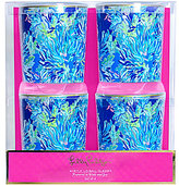 Lilly Pulitzer Wade and Sea Acrylic Double Old Fashioned Glass Set