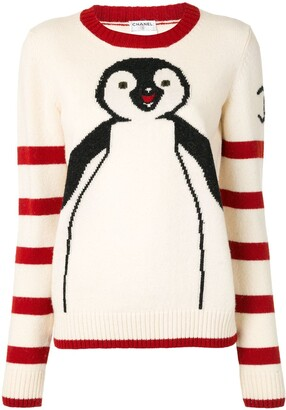 Chanel Pre Owned 2007 Penguin knit jumper