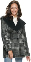 Iz Byer Juniors' Double Breasted Hooded Micro Fleece Jacket