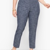 Talbots Plus Size Exclusive Blended Tweed Straight Leg Pants