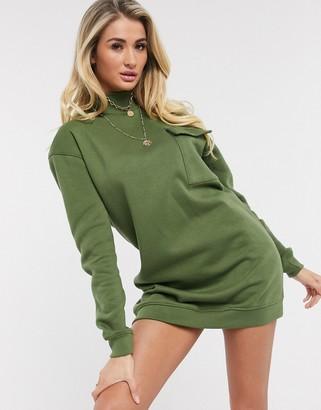 Daisy Street oversized sweater dress in khaki